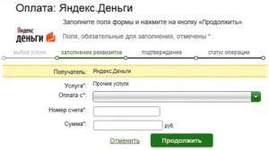 Варианты пополнения электронного кошелька Яндекс-деньги через Сбербанк